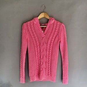 Tommy Bahama pink Sea Glass Cable Hoodie XS